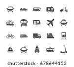 transport silhouettes vector... | Shutterstock .eps vector #678644152