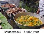 filipino stye lunch buffet   Shutterstock . vector #678644905