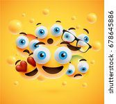 different yellow smileys on... | Shutterstock .eps vector #678645886