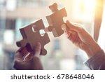 closeup hand of woman... | Shutterstock . vector #678648046