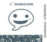 doodle speech | Shutterstock .eps vector #678649042