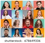the collage from portraits of... | Shutterstock . vector #678649336