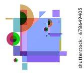trendy geometrical vector... | Shutterstock .eps vector #678649405