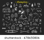 camping  hiking  trekking... | Shutterstock .eps vector #678650806