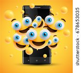high detailed yellow smileys on ...