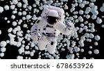astronaut flying between... | Shutterstock . vector #678653926