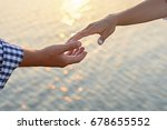 lover boy makes an offer to his ... | Shutterstock . vector #678655552