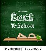 vector illustration of back to... | Shutterstock .eps vector #678658072