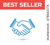 shake hands icon. handshake... | Shutterstock .eps vector #678662176