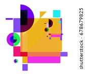 trendy geometrical vector... | Shutterstock .eps vector #678679825