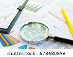 financial printed paper charts  ... | Shutterstock . vector #678680896