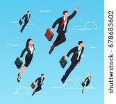 isometric concept of start up.... | Shutterstock .eps vector #678683602