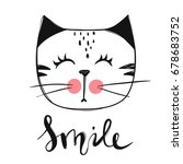 vector card with cute fashion... | Shutterstock .eps vector #678683752