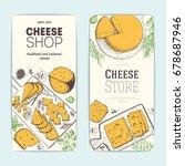 cheese top view  vertical... | Shutterstock .eps vector #678687946