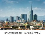 milan skyline with modern... | Shutterstock . vector #678687952