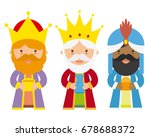 the three kings of orient   Shutterstock .eps vector #678688372