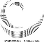 lines in circle form . spiral... | Shutterstock .eps vector #678688438