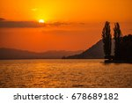 swiss lake thun sunset....
