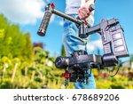 video camera operator.... | Shutterstock . vector #678689206