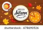 hello autumn banner in gold... | Shutterstock .eps vector #678690526