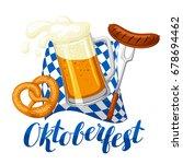 oktoberfest beer festival.... | Shutterstock .eps vector #678694462
