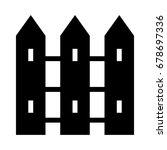 boundary icon | Shutterstock .eps vector #678697336