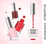 vector gloss red rful nail... | Shutterstock .eps vector #678699718