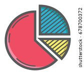 pie chart colorful line icon ...