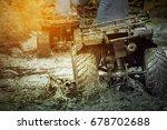 action shot of sport atv... | Shutterstock . vector #678702688