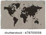 Vintage World Map.grunge Map Of ...
