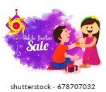 raksha bandhan sale poster ... | Shutterstock .eps vector #678707032