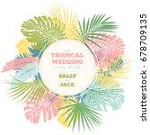 vintage wedding invitation.... | Shutterstock .eps vector #678709135