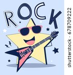 rock star illustration vector. | Shutterstock .eps vector #678709222