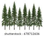 3d illustration trees row...   Shutterstock . vector #678712636