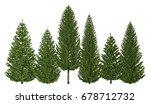 3d illustration trees row...   Shutterstock . vector #678712732