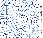 Numbers. Seamless Vector...