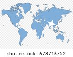 an outline of the world with... | Shutterstock . vector #678716752