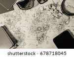 background on travel planning | Shutterstock . vector #678718045