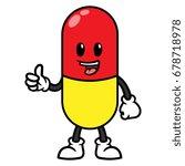 pill or medicine cartoon... | Shutterstock .eps vector #678718978