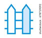 boundary line icon  | Shutterstock .eps vector #678719092
