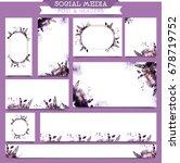 artistic social media post and... | Shutterstock .eps vector #678719752