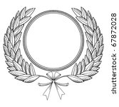 laurel wreath with medal and... | Shutterstock .eps vector #67872028