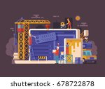 website under construction... | Shutterstock .eps vector #678722878