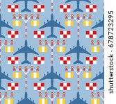 seamless vector pattern with... | Shutterstock .eps vector #678723295