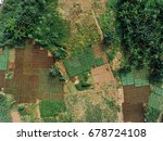 aerial view of agriculture in...   Shutterstock . vector #678724108