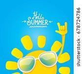 hello summer funky rock n roll...   Shutterstock .eps vector #678724786