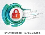 protection concept. protect... | Shutterstock .eps vector #678725356
