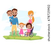 happy family with children with ... | Shutterstock .eps vector #678725902