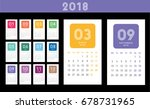 colorful calendar layout for... | Shutterstock .eps vector #678731965