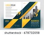 vector brochure layout  flyers... | Shutterstock .eps vector #678732058